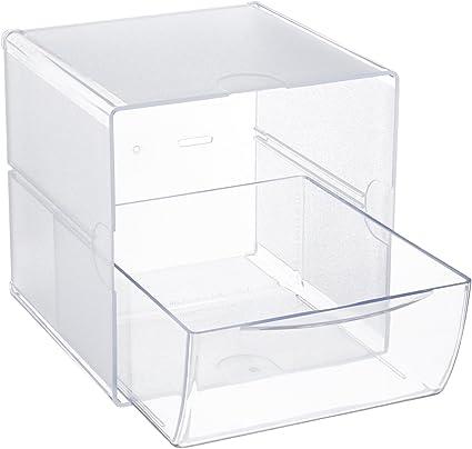 Deflecto X-Divider Cube 1 cassetto 6 x 6 x 7.2 Trasparente