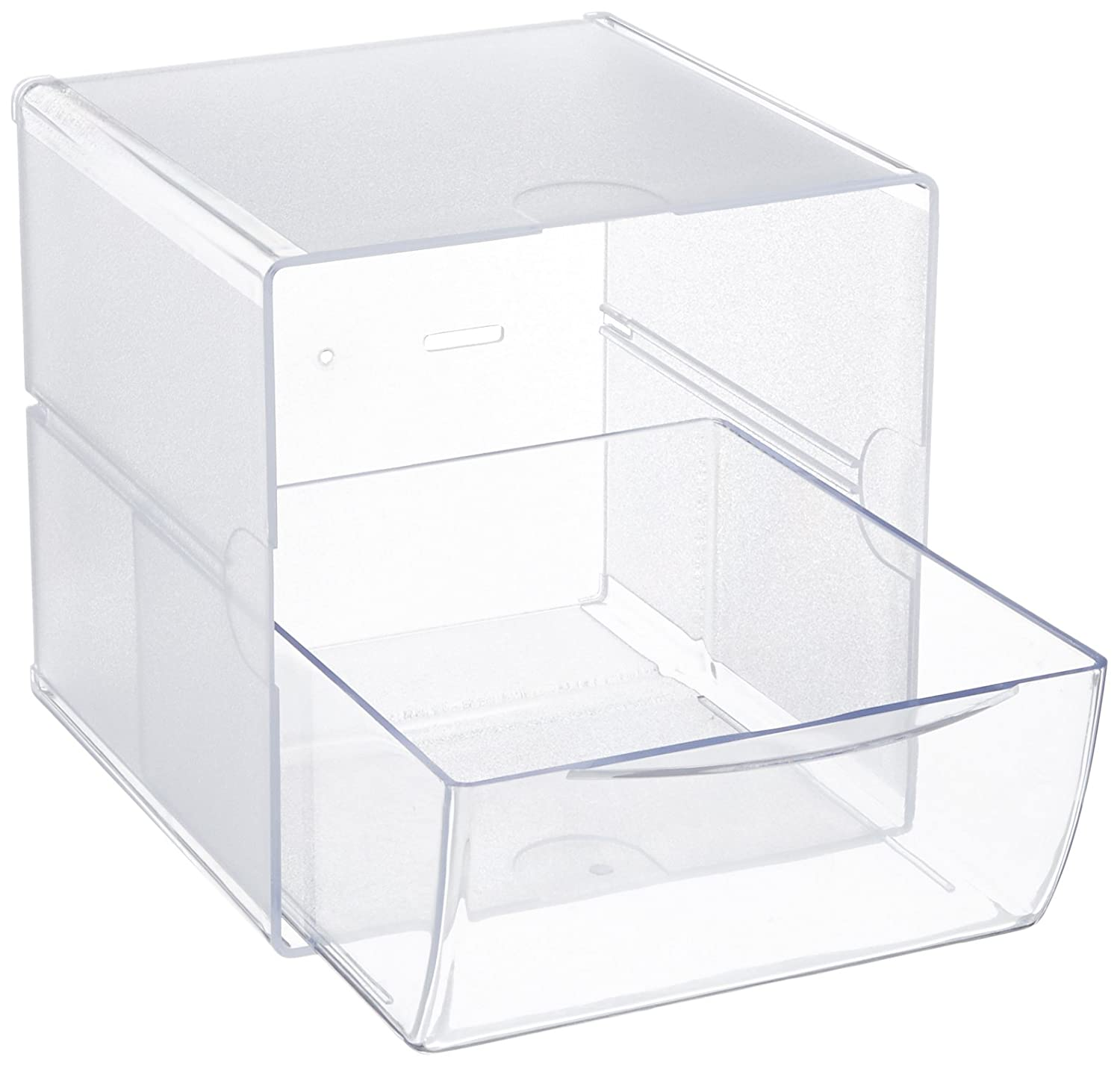 "Deflecto Stackable Open Cube Organizer, Desk and Craft Organizer, Clear, 6""W x 6""H x 6""D (350401CR) Deflect-o Products"