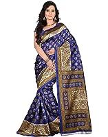 e-VASTRAM Women's Mysore Silk Without Blouse Piece Saree (Ns9A_Blue)