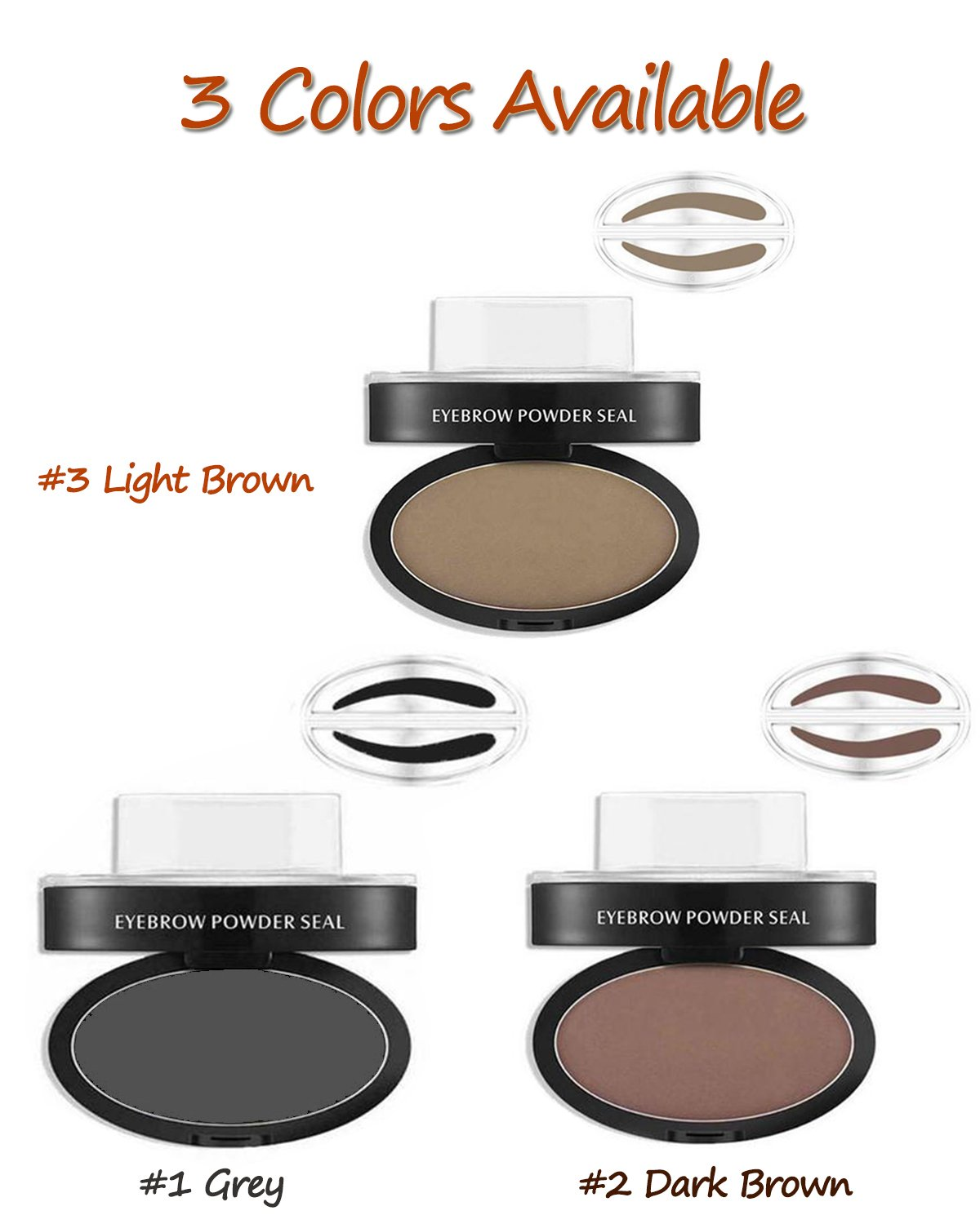 eyebrow powder. amazon.com : ladygo 3 stencils eyebrow stamp waterproof powder brush eye brow perfect seal natural-looking eyebrows delicate shape in seconds makeup tool