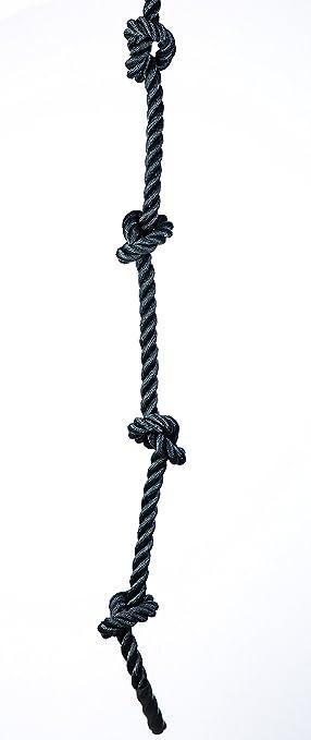 Cuerda de Escalada para Gimnasio con Nudos (1,5 m de Grosor x ...