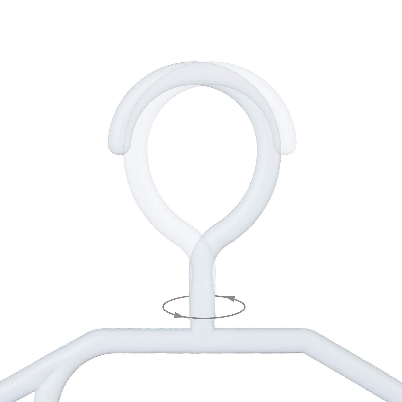 schwarz W/äscheb/ügel mit Hosenstange /& Krawattenhalter 30er Pack Haken 360/° drehbar Relaxdays Kleiderb/ügel Kunststoff