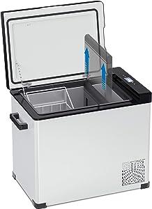 Colzer Dual Zone Portable Refrigerator Freezer, 53 Quart Car Fridge Cooler with Compressor(-4°F to 68°F), Vehicle, Car, Truck, RV, Boat, 12V Mini Fridge Freezer for Driving, Camping, Travel,Fishing,Outdoor
