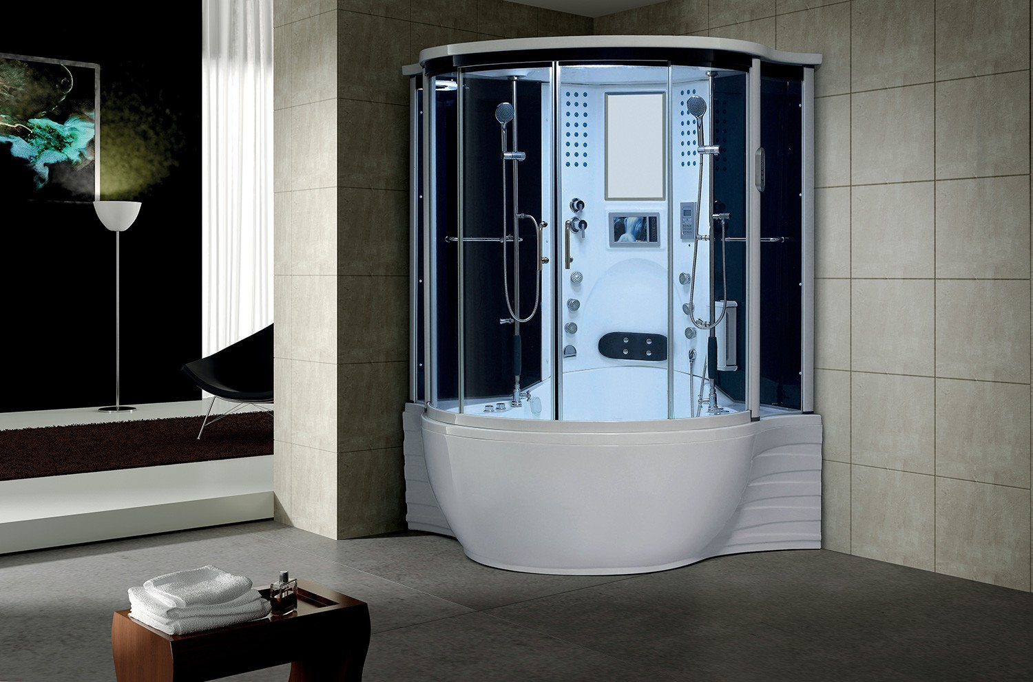 Florence Steam Shower Sauna With Jetted jacuzzi Whirlpool massage ...