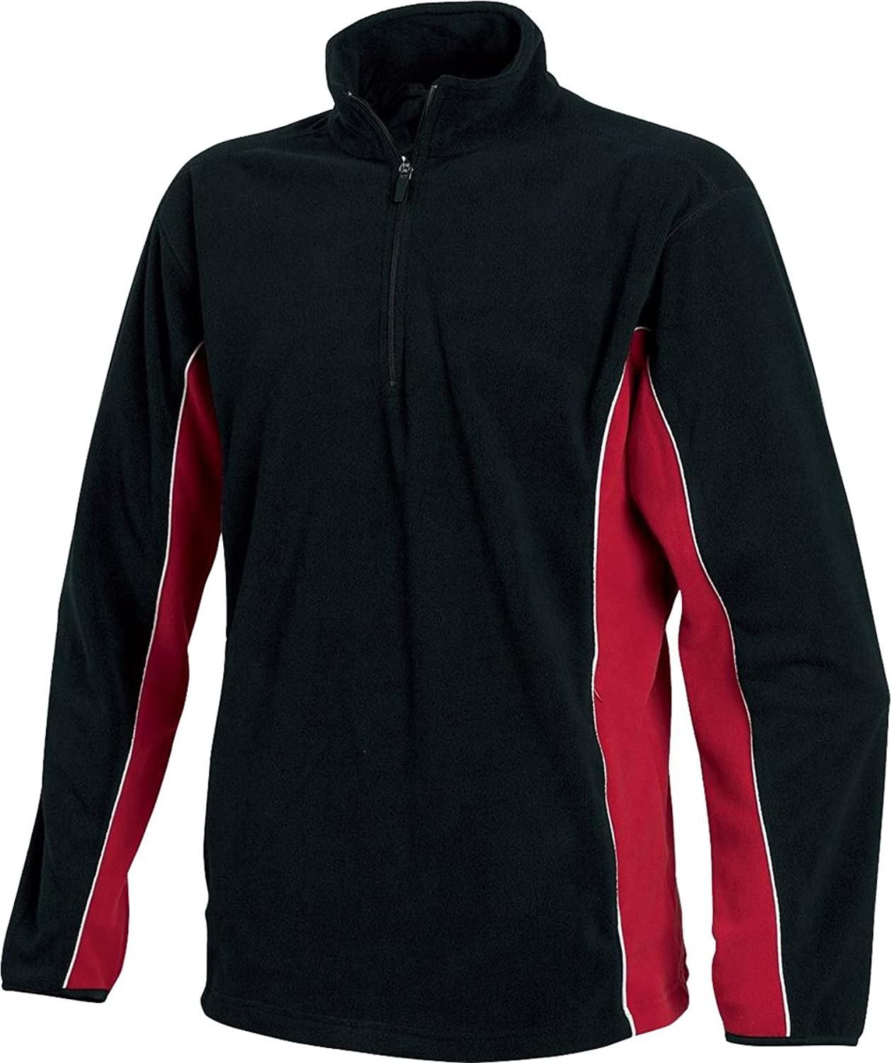 New Tombo Teamsport Mens 1/4 Zip Micro Fleece Zip Neck Pullover Jumper Sweat Top