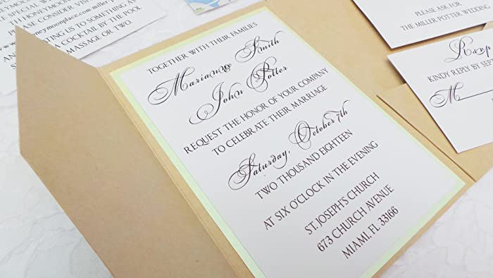 Amazoncom 30 Personalized Wedding Invitations Reception Rsvp Cards