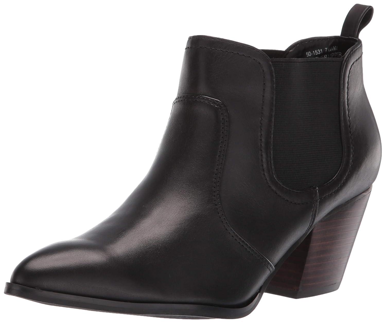 Black Leath Bella Vita Womens Emerson Chelsea Boot