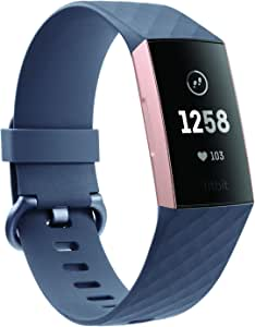 Fitbit Charge 3 Health and Fitness Tracker - Rose Gold/Blue Grey
