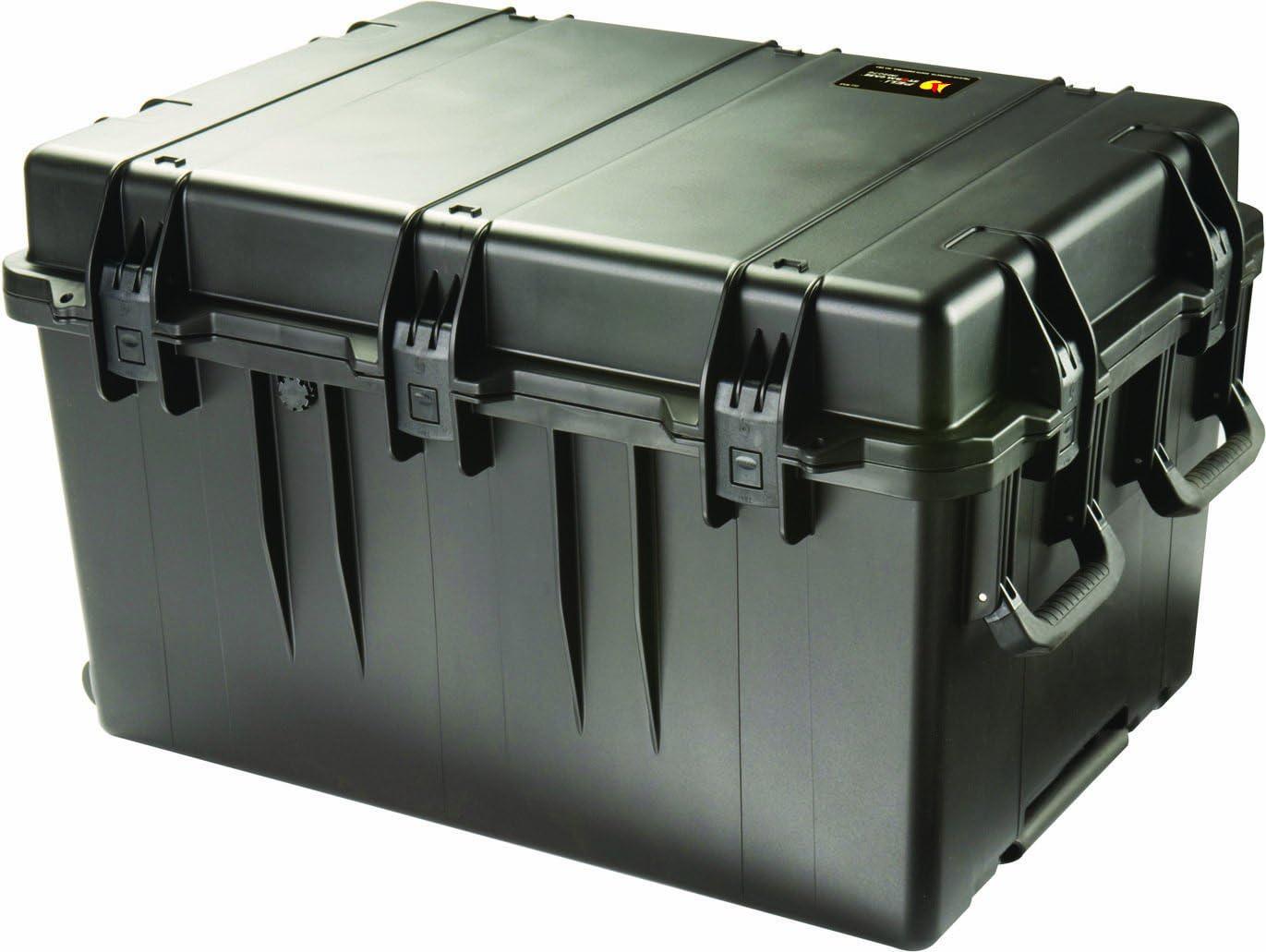 PELI Storm IM3075 Maleta de Transporte Grande para Equipos electrónicos, fotográficos y audiovisuales, Resistente al Agua y al Polvo, 257L de Capacidad, Fabricada en EE.UU, sin Espuma, Color Negro