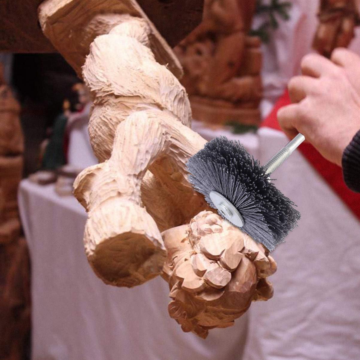 ULTECHNOVO T/ête de Fleur de Polissage Roue de Fil Abrasif Brosse de Roue Abrasive en Nylon Brosse de Polissage de Boiseries