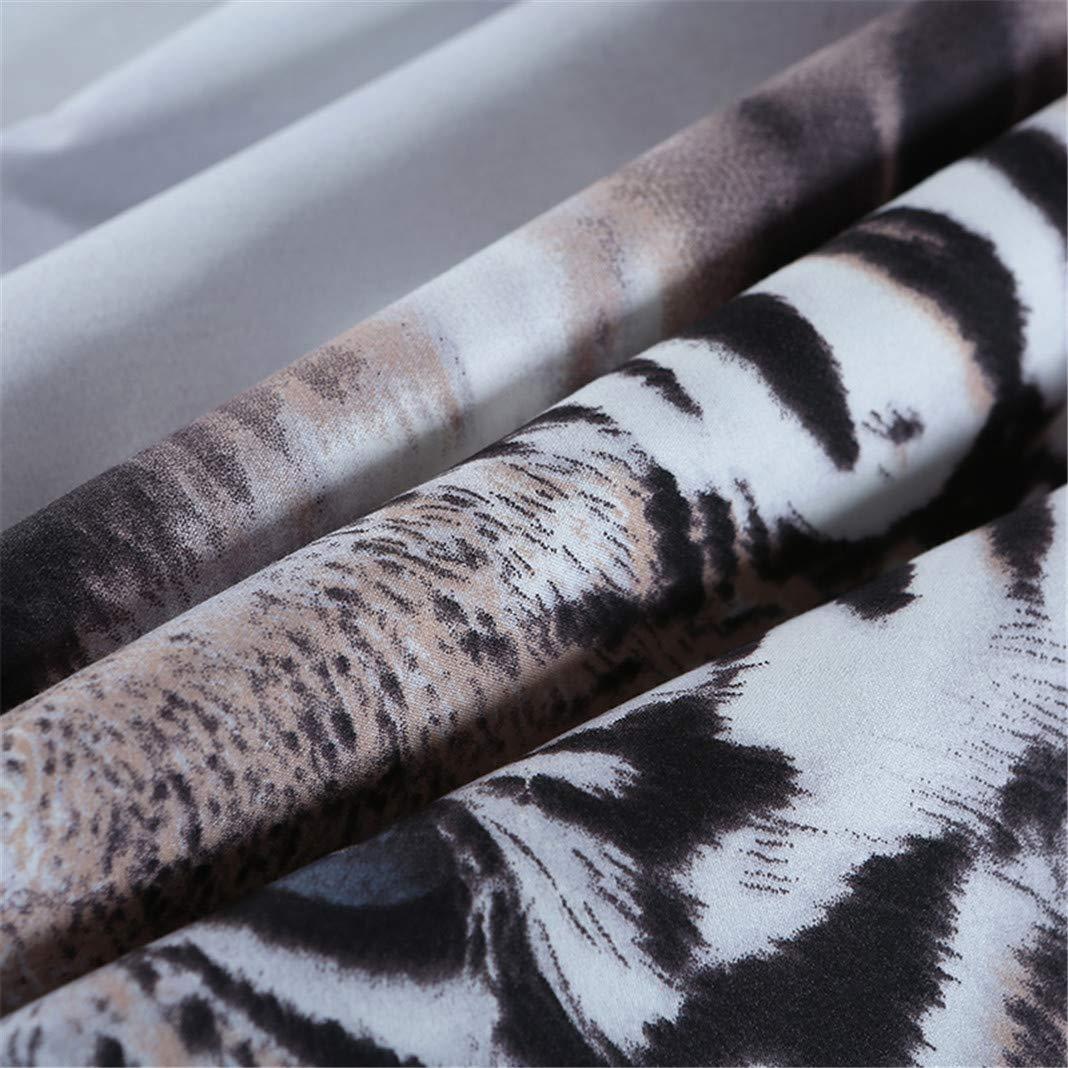 Stillshine Parures de lit Adulte 2 Personnes Sets de Housses de couettes 3D Animal Tigre Literie Trois pi/èces Housse de Couette 180x220 et Taie doreiller 50x75