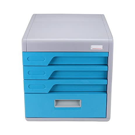 Elegant FINE DRAGON 4 Drawer Desktop File Cabinet Organizer With Combination Lock  For Office And Household
