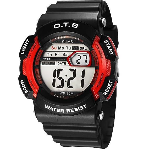 o.t.s reloj digitale niño niño niña 50 M impermeable Deporte Reloj Pulsera retroiluminación cronómetro alarma (