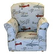 Brighton Home Furniture Airplane Print Toddler Rocker - Cotton Rocking Chair