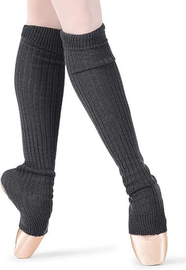 RAMPAGE WOMEN/'S LEG WARMER/'S BLACKS WHITE GRAY SOFT  STRETCH FASHION SOLID18INCH