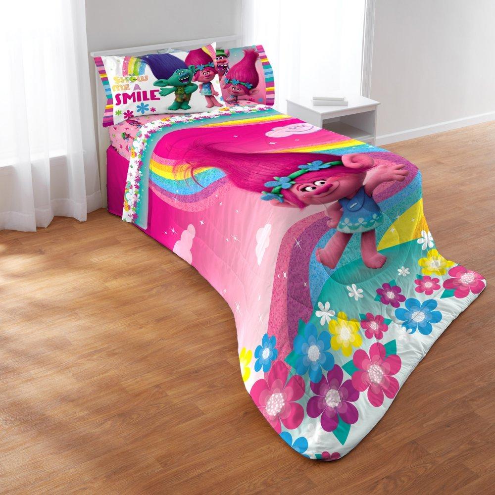 Trolls Show Me A Smile 4 Piece Comforter Set by Franco