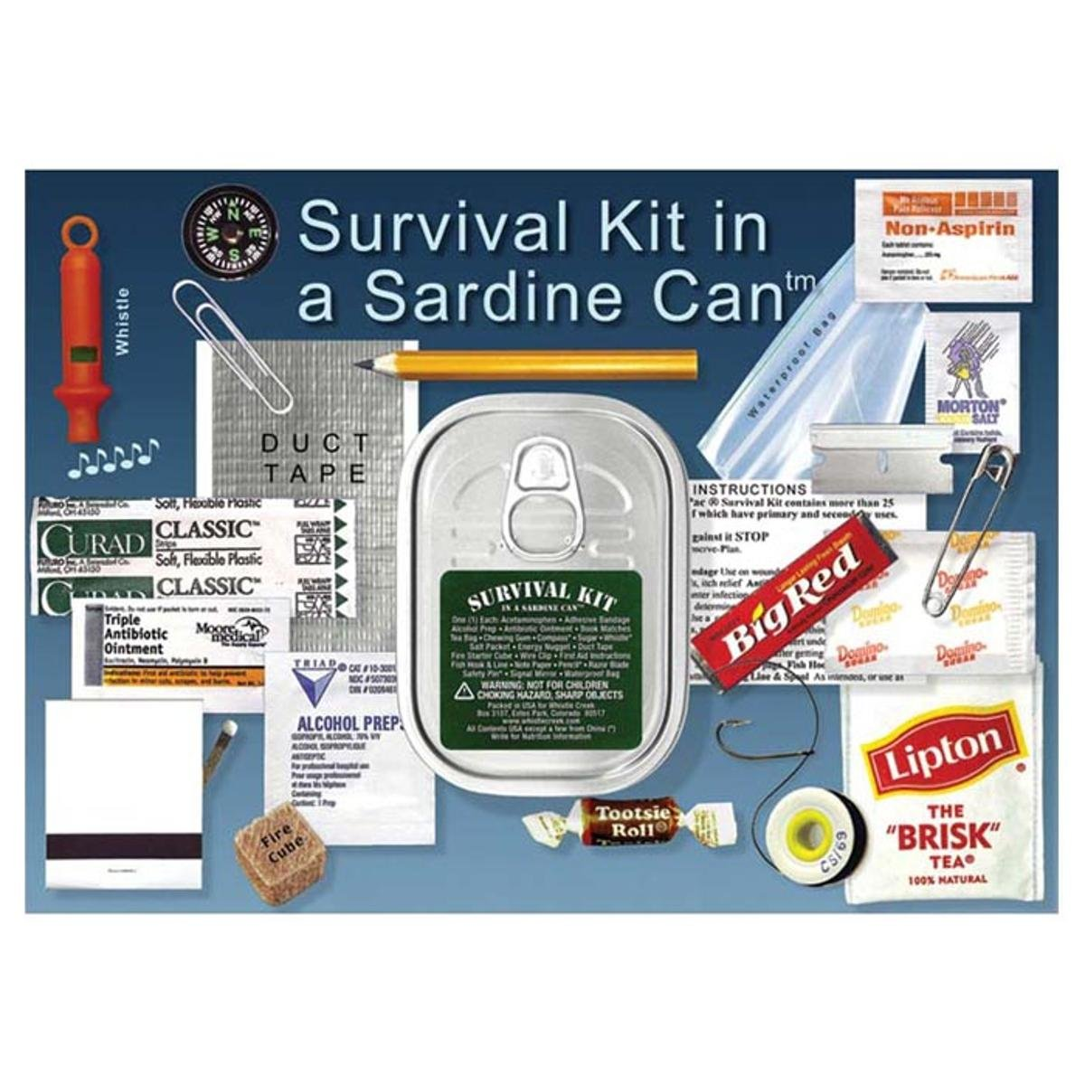Williamson Whistle Creek Survival Kit In A Sardine Can 4005