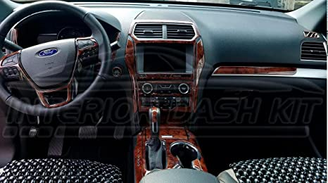 Amazon Com Ford Explorer Interior Wood Dash Trim Kit Set 2016 2017