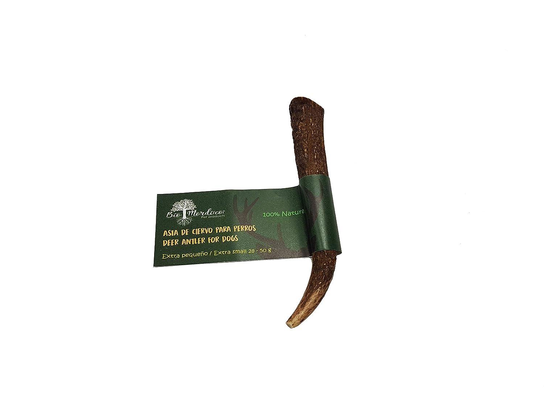 Bio Mordiscos Mordedor de asta de ciervo para perros - 100% natural (XS 28-50g): Amazon.es: Productos para mascotas