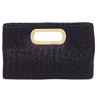 online new appearance on sale online Top Handle Straw Clutch