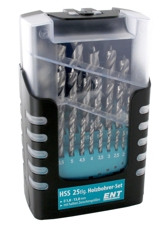 Ent 09225 Duradrill 25 Tlg Hss G Holzbohrer Set 1 13mm In 0 5mm