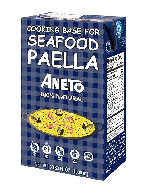 ANETO caldo de pescado y marisco para paella envase 1 lt