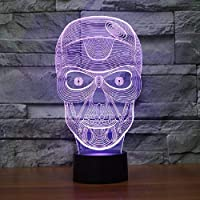 lampe tête de mort 3d 3