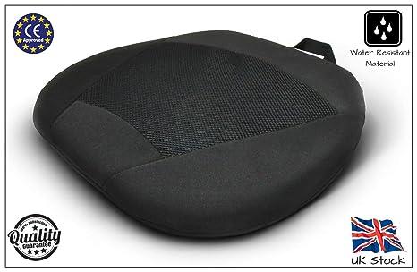 Garden Mile Negro Universal Lujo acolchado Cooling Gel de silicona SEAT Cojín Almohadilla Espuma Con Memoria