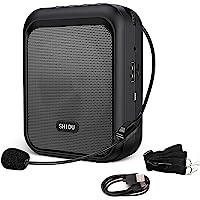 SHIDU amplificador de voz Altavoz Bluetooth portátil recargable con micrófono con cable Auriculares Sistema de PA de 10…
