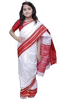 cd2a825375 Buy FancyDressWale Teacher/Indira Gandhi Fancy Dress for Kids (4-6 ...