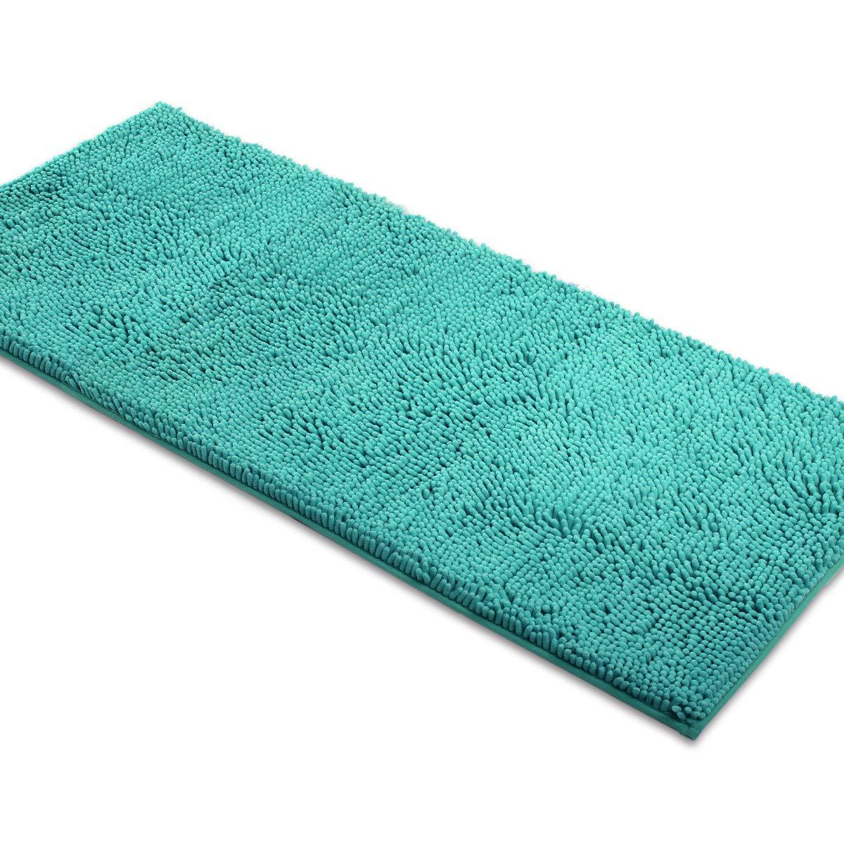 MAYSHINE Non-Slip Bathroom Rugs Shag Shower Mat Machine-Washable Bath mats Runner(47
