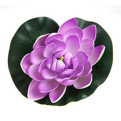 FACILLA®Flor Flores Artificiales Plástico Violeta Verde para Decorar ...