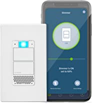 Leviton DWVAA-1BW Decora Smart Wi-Fi Voice Dimmer with Amazon Alexa Built-in, No Hub Required, 1 Pack, White