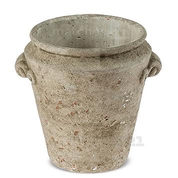 matches21 decorativa Cemento Jarrón en forma de jarra konischer Cemento Jarra en estilo antiguo – Suelo