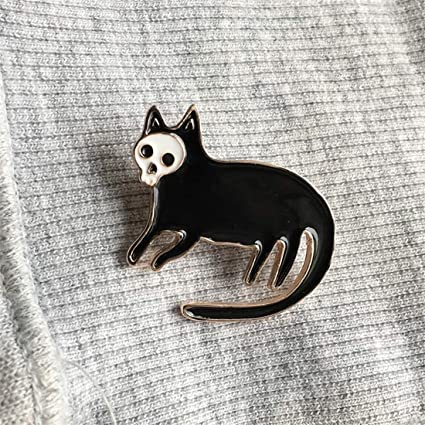 1 Pcs Cartoon Cute White Cat Metal Brooch Button Pins Denim Jacket Pin Jewelry Decoration Badge For Clothes Lapel Pins Home & Garden Apparel Sewing & Fabric