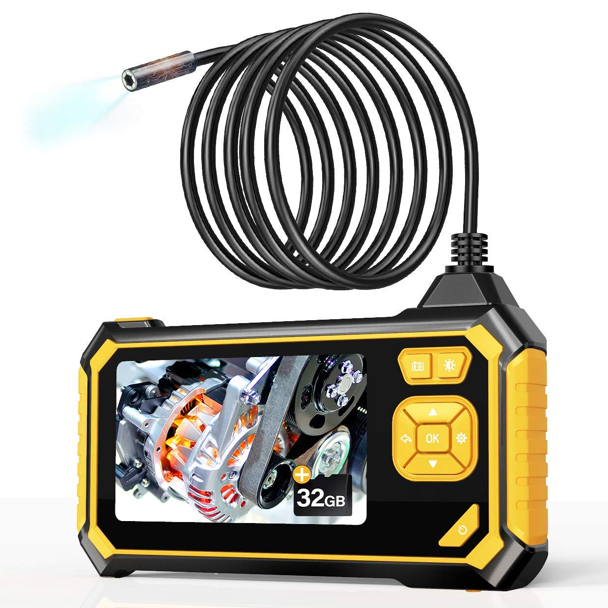 1M Industrial Endoscope 8mm 8 LED 1200P WiFi IP68 Waterproof Borescope for Smartphones PC Tablets SUNWAN Inspection Camera