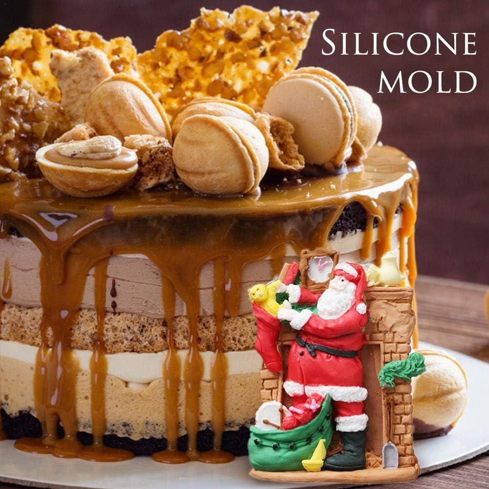 Weihnachtsmann Silikon Form Kerzen Seifenform Kuchenform Tortenform Schokolade