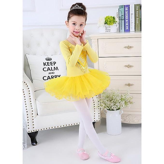 afa2ca230 Amazon.com : Happy Cherry Little Girls Ballet Dancewear Dress Long-Sleeve  Costumes Leotard : Sports & Outdoors