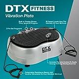 DTX Fitness Vibration Shaker Toning & Massaging Power Plate Gym Machine- Silver