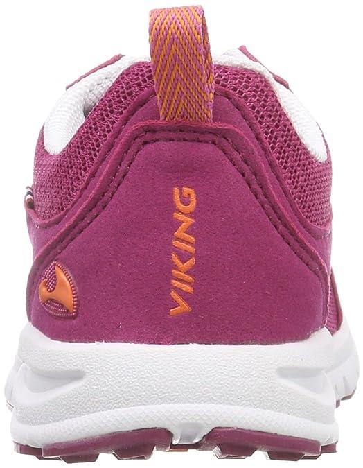 Viking 3-48750, Chaussures Multisport Outdoor Mixte Enfant - Rose - Rose (Fuchsia/Orange 1731), 32 EU