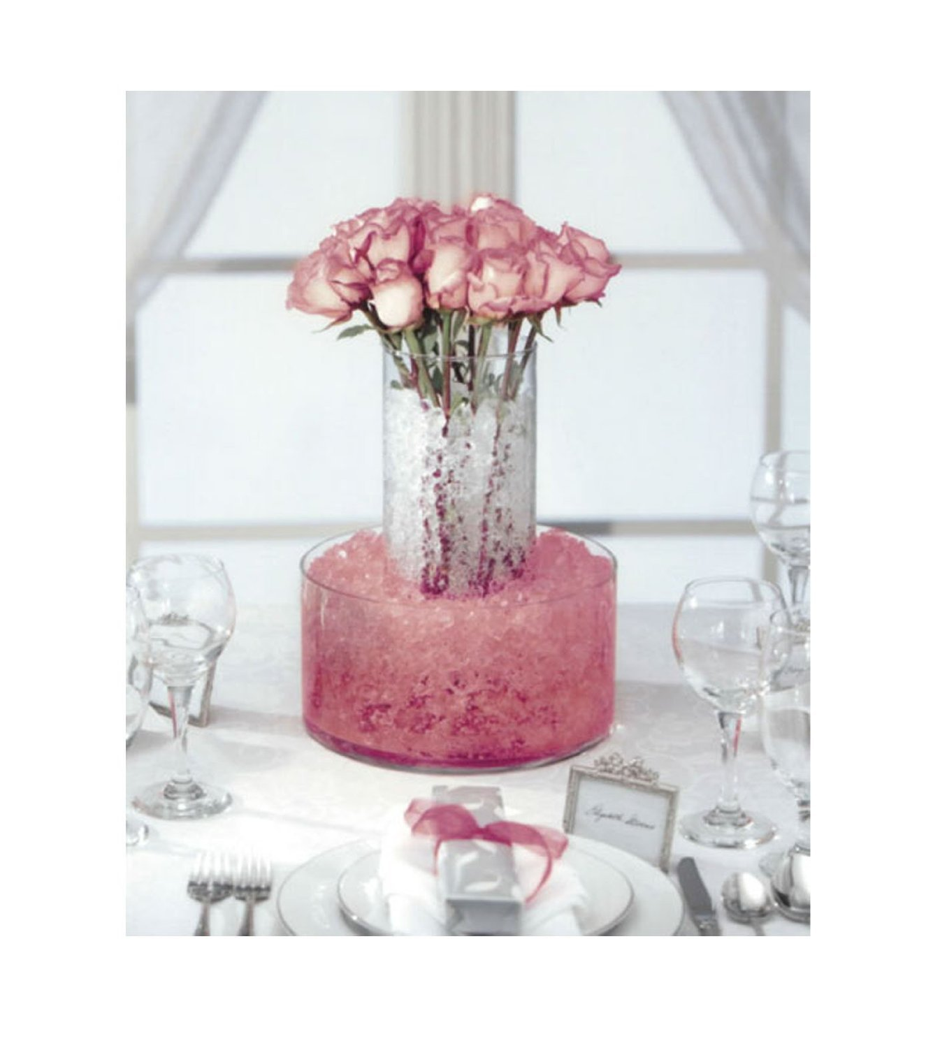 Amazon Pink Vase Filler Water Storing Jelly Crystals