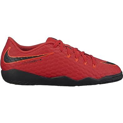 dcaf3205b NIKE Junior Hypervenomx Phelon III IC Soccer Shoes (University Red Black) (1