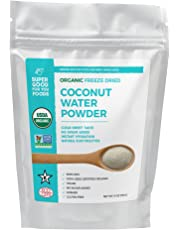 Super Good For You Foods Organic Freeze Dried Coconut Water Powder, Gluten-Free, Non-GMO + Vegan, 6 Ounce Bag