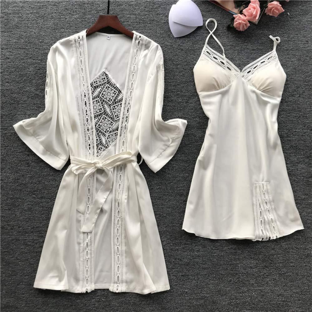 Conjunto de Albornoz para Mujer Pantalones Casuales de Encaje para ...