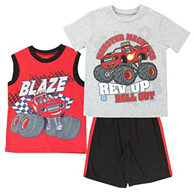 3f2980ea Blaze and the Monster Machines Little Boys 3-Piece Set - Shirt, Muscle Shirt