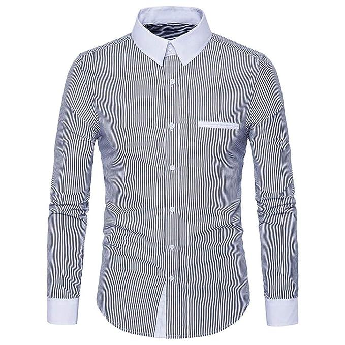 Camisetas, TWBB Camisa Casual De Manga Larga para Hombre Camisa Delgada De Manga Larga: Amazon.es: Ropa y accesorios