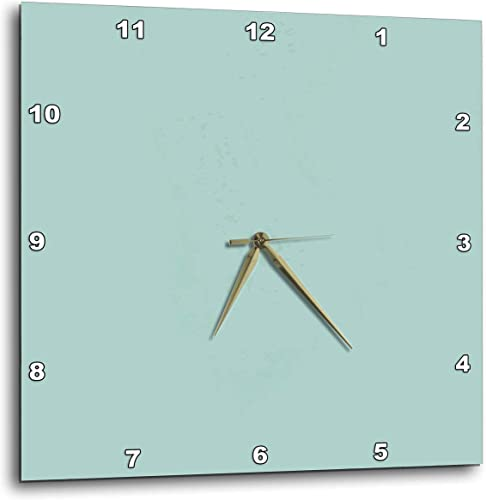 3dRose 3D Rose Plain Mint Blue-Solid Color-Light Turquoise-Grey-Gray-Modern Contemporary Simple Pastel Teal-Wall Clock, 15-inch DPP_159844_3