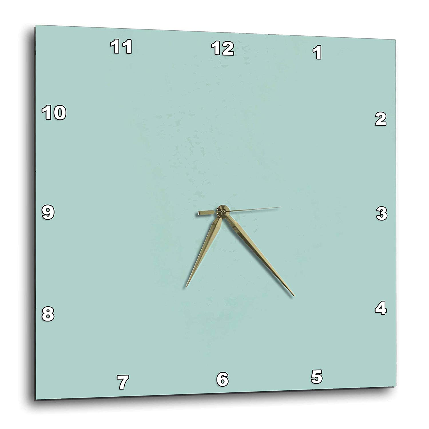 15-inch 3dRose 3D Rose Plain Mint Blue-Solid Color-Light Turquoise-Grey-Gray-Modern Contemporary Simple Pastel Teal-Wall Clock DPP/_159844/_3