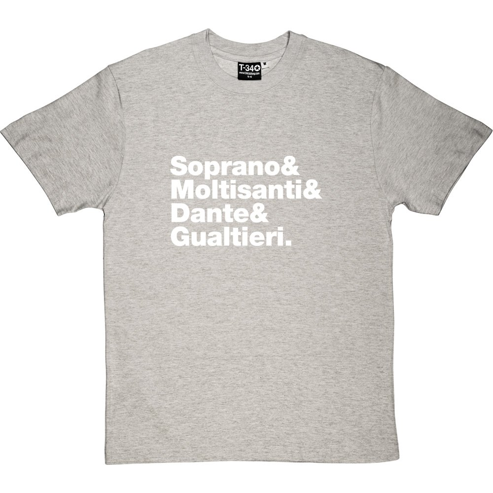Amazon The Sopranos Line Up Mens T Shirt Clothing