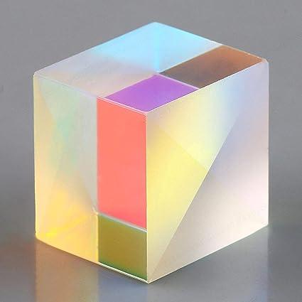 LNIEGE RGB Combiner Splitter Prism Defective Cross Dichroic Glass X-Cube Prism Cube For Experiment